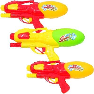 3x Wasserpistole Wasser-Pistole mit Pumpe Spritzpistole Kanone Water Gun Big Gun ()