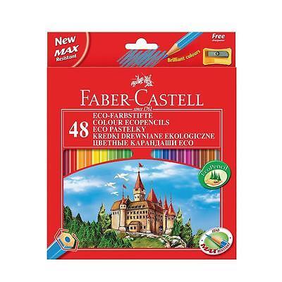 Faber-Castell 120148 - Eco Farbstifte, 48 Stück Malstifte Buntstifte Spitzer NEU