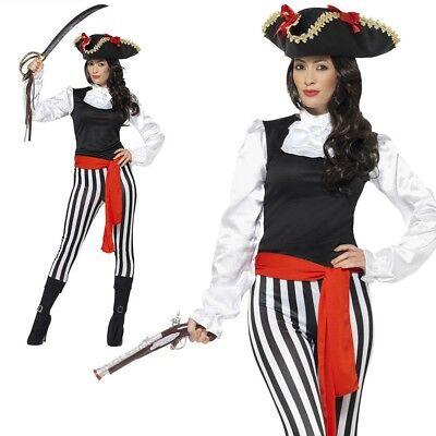Erwachsene Piraten Damen Kostüm Karibik Seeräuber UK - Weibliche Piraten Kostüme