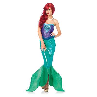 Womens Deep Sea Siren Mermaid Halloween (Sirene Kostüm Halloween)