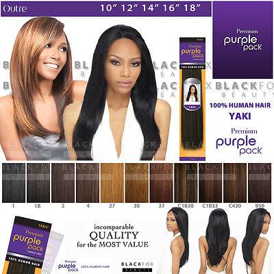 Outre Premium Purple Pack 100% Human Hair Yaki Weave 10