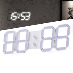 Led Digital Large Wall Clock Remote Alarm Clock Watch Countdown Timer 12/24 Hour
