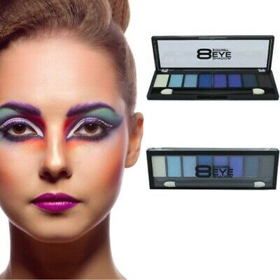 Lidschatten 8 Farben Blau Make Up Eyeshadow Kosmetik - Blau Make Up