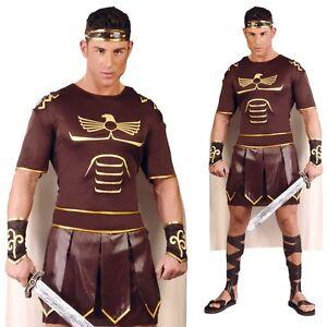 Gladiator Römer Spartaner Kämpfer braun MIT Umhang Herkules Gr. L Herren Kostüm