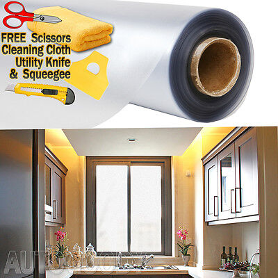 """36""""x180"""" Frosted Glass Film Static Cling Office Bathroom Window Tint 3ft x 15ft"""