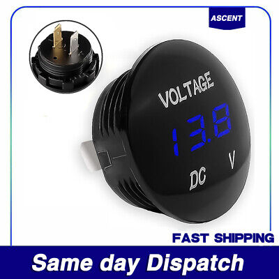 Dc 12v-24v Led Panel Digital Voltage Volt Meter Display Voltmeter Car-motorcycle