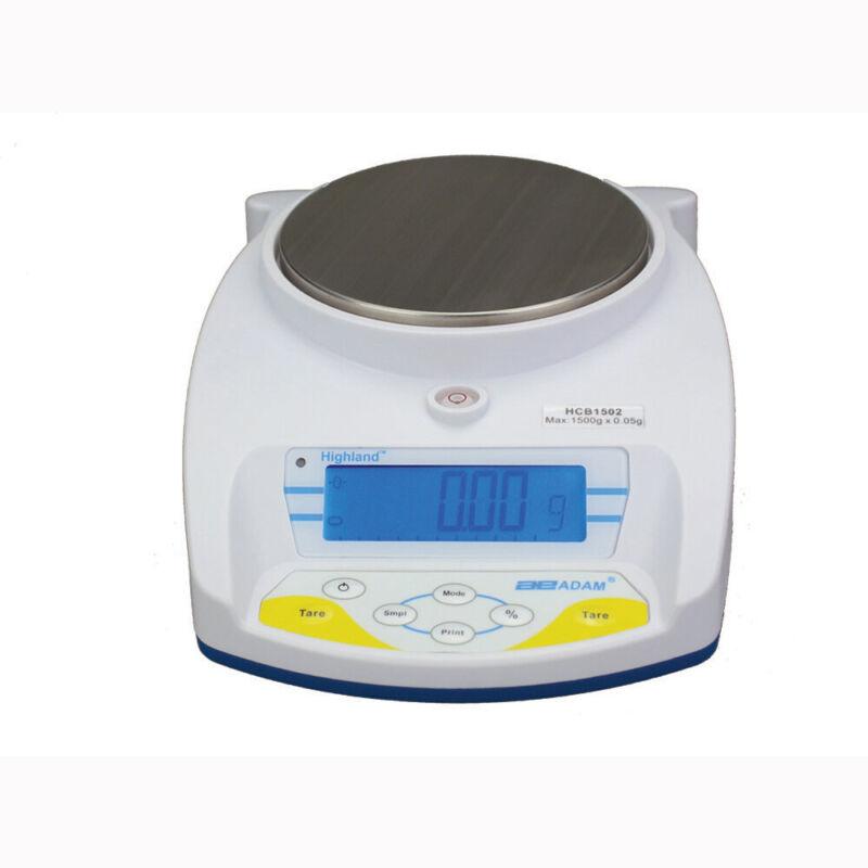 Adam Equipment HCB-1502 Highland Portable Precision Balance-1500 g Cap