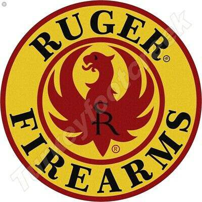 RUGER FIREARMS 11.75in ROUND METAL SIGN