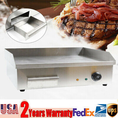 60hz Stainless Steel Electric Thermomate Griddle Grill Bbq Plate Commercial Tool