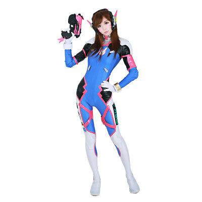 D.Va Cosplay Spandex Suit DVA Costume Hana Song Bodysuit Outfit
