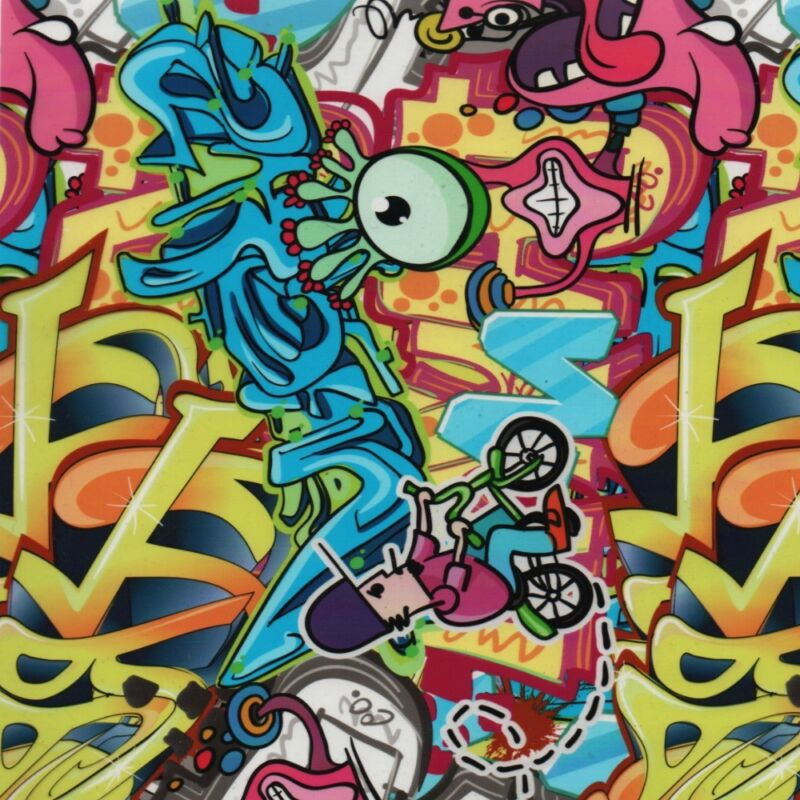 HYDRO DIP WATER TRANSFER HYDROGRAPHIC FILM GRAFFITI BOMB 2 1SQ