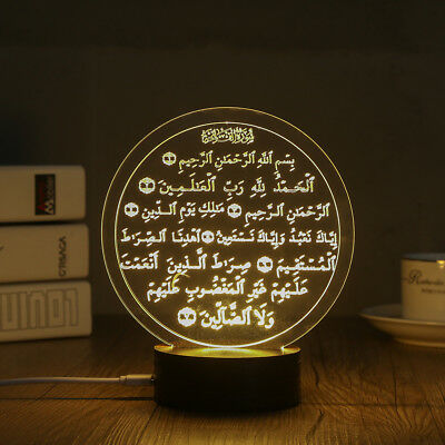 3D LED Night Light Desk Table Lamp Home Decoration Muslim Style (MSL-B) for sale  Shipping to India