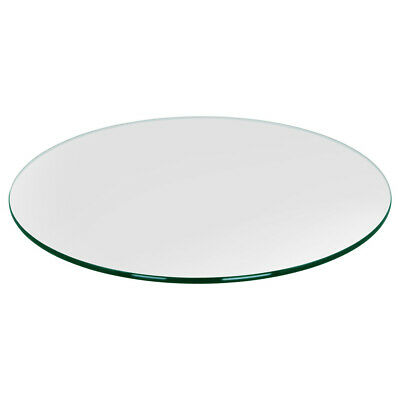 Dulles Glass 18 Inch Round 3/8 Inch Tempered Glass Table Top (Open Box)