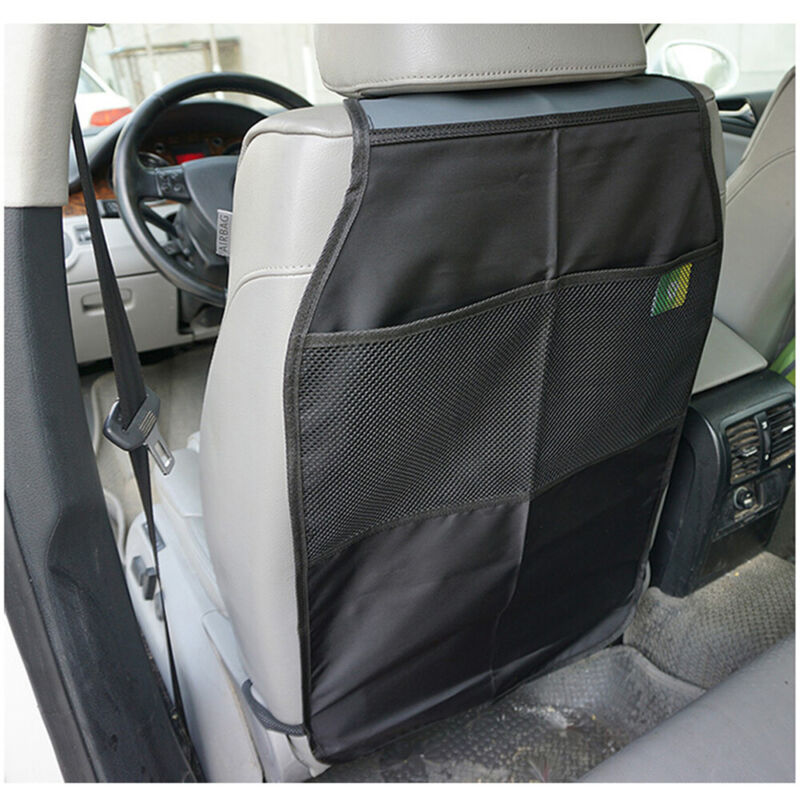 2 Pack Kick Mat Car Seat Back Cover Protector Backseat Organizer Waterproof
