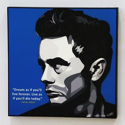 James Dean Canvas Quotes Wall Decals Photo Painting Framed Pop Art Poster