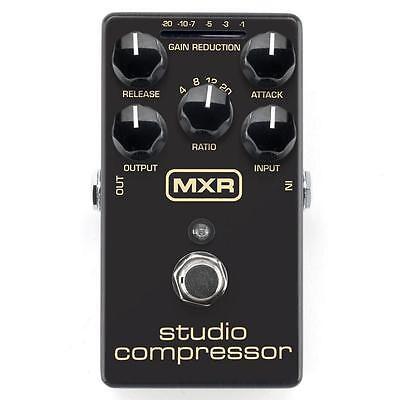 Jim Dunlop MXR Studio Compressor Comp M76 Guitar or Bass Effect Pedal Brand New!
