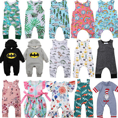 Newborn Infant Baby Boy Girl Funny Romper jumpsuit Sleeveless Playsuit Outfits](Funny Outfits)