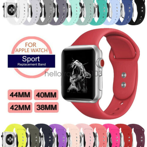 Sport Silicon Watch Band Strap for Apple Watch iWatch Series 4 3 40mm 44mm 42mm