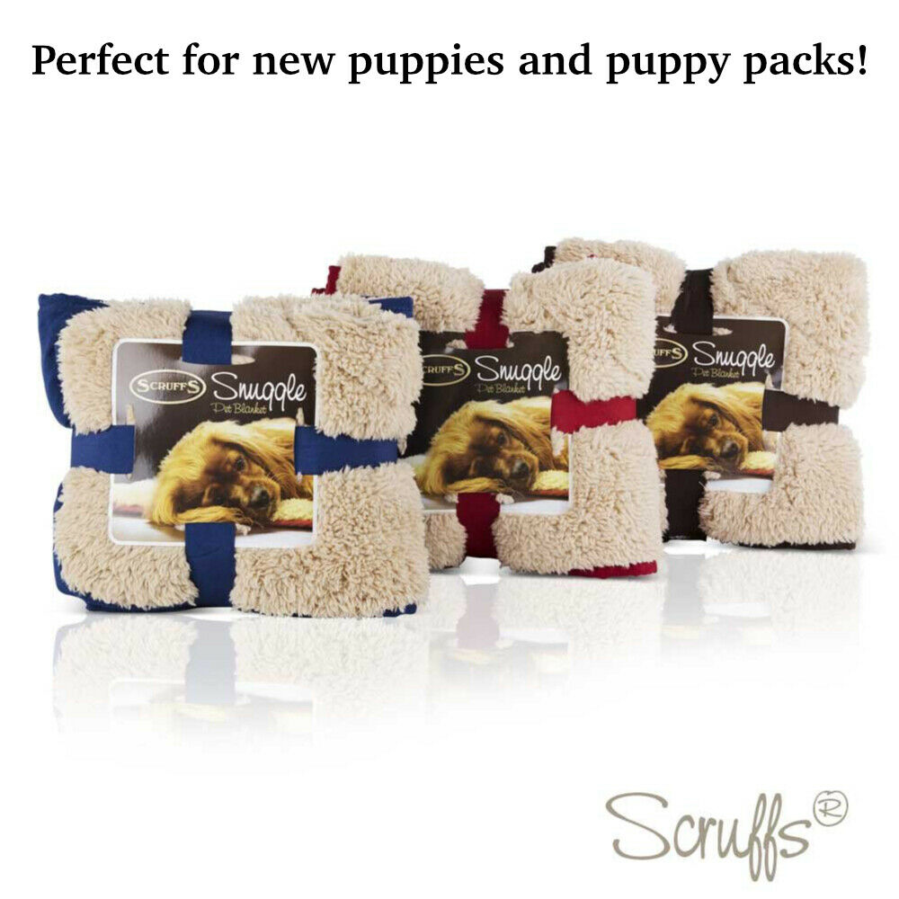 dog snuggle blanket reversible soft plush cold