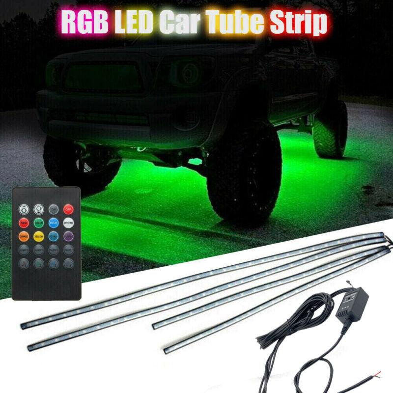 8 Color LED Strip Under Car Truck Tube Underglow Underbody System Neon Light Kit