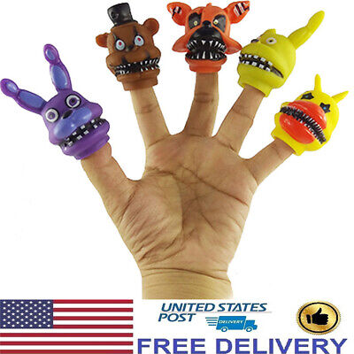 Five Nights At Freddy's FNAF Bonnie Foxy Freddy 5 PCS Figure Finger Doll Kid Toy](Foxy Kids)