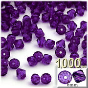 6mm Faceted Plastic Beads
