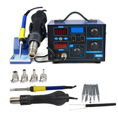 2in1 Smd 110v Electric Esd Soldering Iron Station Desoldering Welder Set 862d