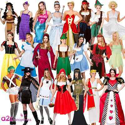 LADIES BOOK DAY CHARACTER FAIRYTALE STORYBOOK ADULT FANCY DRESS COSTUME - Storybook Characters Kostüm