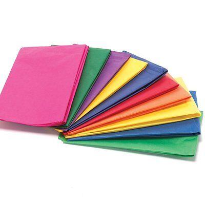 Carta Velina 10 Fogli scelta di colori Tinta unita/Assortiti/Colori pastello