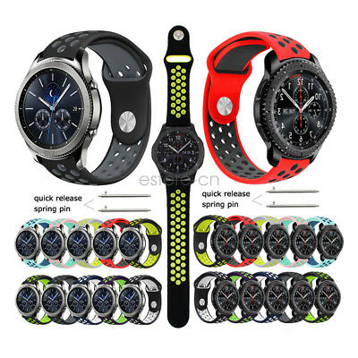 Silicone Sport Wrist Band Watch Strap For Samsung Gear S3 Classic / Frontier