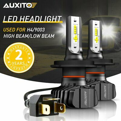 AUXITO H4 9003 LED Headlight Kit Hi Low Beam Bulbs 18000LM FANLESS HID WHITE B7