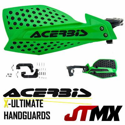 Acerbis X-Ultimate Handguards - Green Black KAWASAKI KXF KX 125 250 450 F UFO