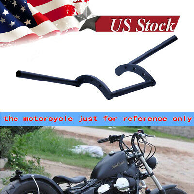 (Motorcycle 7/8'' Black Handlebars Z Bar Drag Bars For Yamaha Suzuki Honda Harley)
