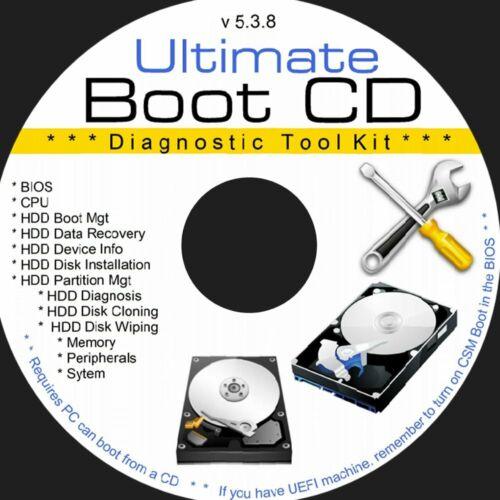 Ultimate Boot CD Disk 5.3.8 Computer Repair Tools Bootable Utilities