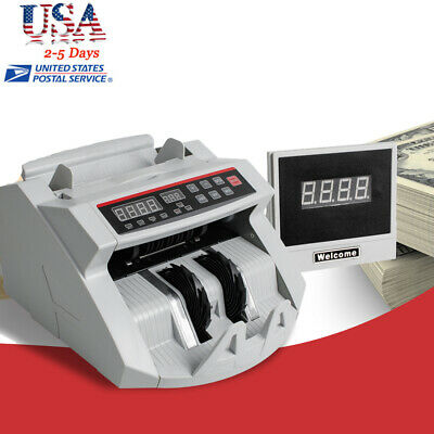 Money Bill Currency Counter Counting Machine Counterfeit Detector Uv Mg Usa Fda