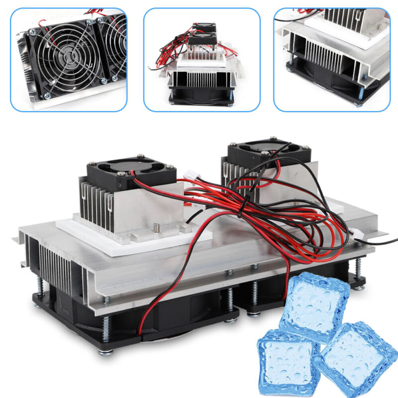 140W 12V Thermoelectric Refrigeration Cooling System Peltier Cooler Fan Kit USA