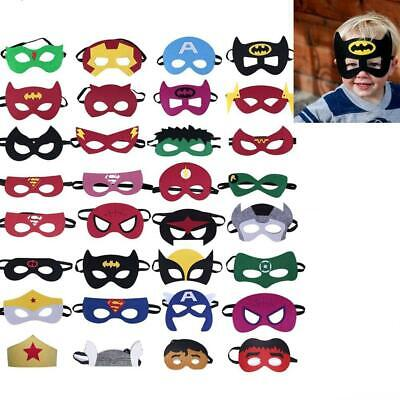 32pcs/set Kind Kostüm Gesichtsmaske Junge Mädchen Superheld Maske Party - Kind Mädchen Superheld Kostüm