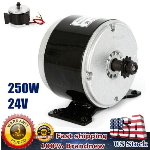 250W 24V DC Electric Motor Brushed 2750RPM Chain For E Bike Scooter MY1025 USA