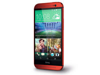 HTC ONE M8 Unlocked - Red - New .