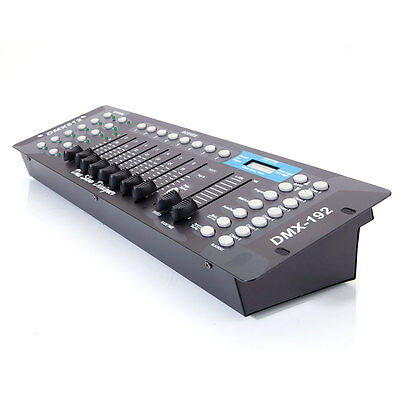 New 192CH DMX512 Stage Light Controller Laser DJ  Lighting Console for Party