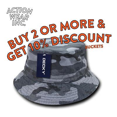 DECKY MENS BUCKET HAT OUTDOOR SAFARI BOONIE SUN HAT HATS CAP CAPS FISHING