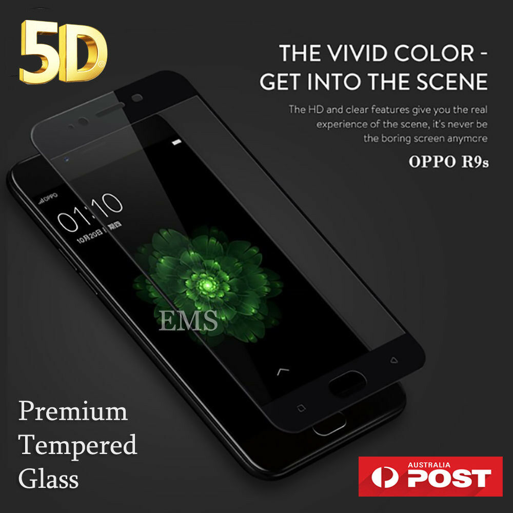 Details about 5D Full Coverage Tempered Glass Screen Protector Guard for  Oppo R11 R9S Plus AX5