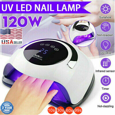 Professional Electric LED UV Nail Dryer Gel Polish Lamp Salon Manicure SUN 120W