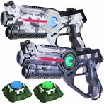 Light Battle Active Camo Set Grijs/Wit - 2 Pack + 2 Targets