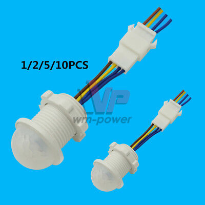 12510pcs Pir Infrared Body Motion Sensor Switch Detector For Led Lamp Light