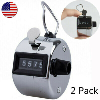 - Hand Tally Counter 4 Digit Number Golf Mechanical Palm Clicker Counter 2 Pack US