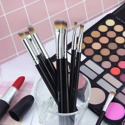 Hot Black 8Pcs Eye Makeup Brush Set Eyeshadow Concealer Blending Beauty 2019 US