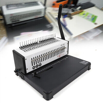Steel Metal Coil Punching Binding Machine Paper Comb Punch Binder 21-hole Usa
