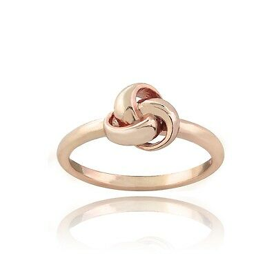 Rose Gold Tone over 925 Silver Love Knot Polished Ring