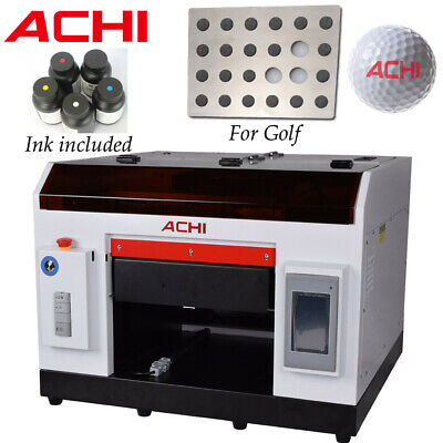 A3 Uv Printer For Golf Flatbed Cylindrical Metal Glass Rotation Embossed 3d Us